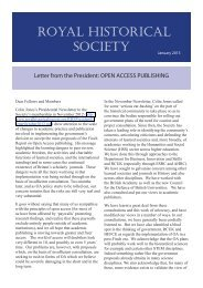 Letter from the President: OPEN ACCESS PUBLISHING