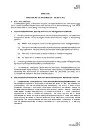 Annex 58L - Disclosure of Information - Exemptions - Royal Navy
