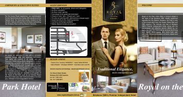 ROTP Brochure 2013 - Royal On The Park Hotel