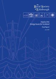 Inquiry into Energy Issues for Scotland - The Royal Society of ...