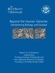 Beyond the Human Genome: - The Royal Society of Edinburgh