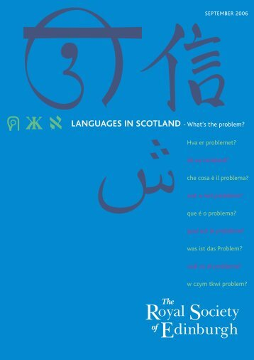 LANGUAGES IN SCOTLAND - What's the problem? - The Royal ...