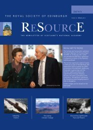 Resource Spring 2011 - The Royal Society of Edinburgh