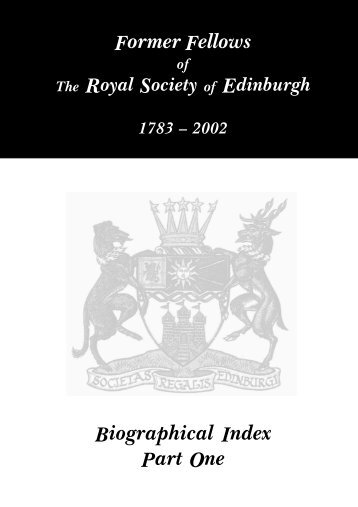 Biographical Index - The Royal Society of Edinburgh