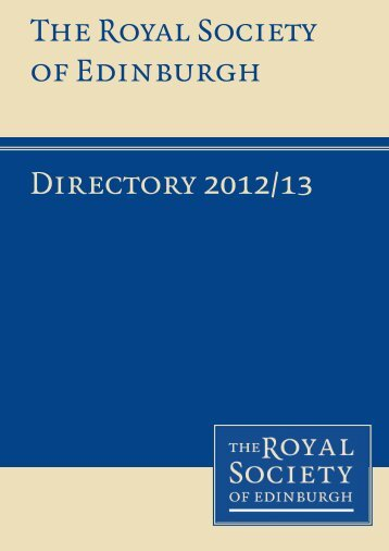 abridged version - The Royal Society of Edinburgh