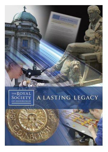 a lasting legacy - The Royal Society of Edinburgh