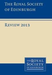 Review 2013 The Royal Society of Edinburgh