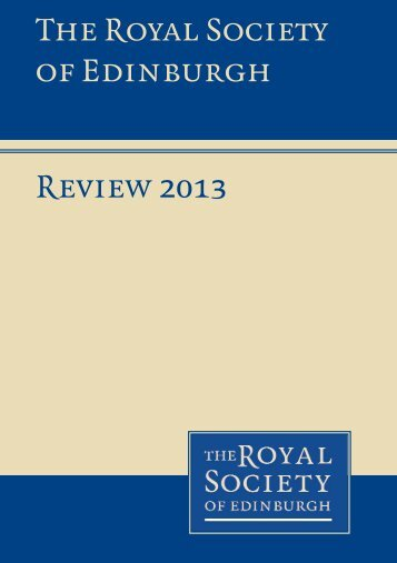Review 2013 The Royal Society of Edinburgh