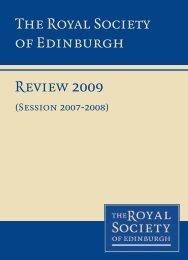 2009 - The Royal Society of Edinburgh