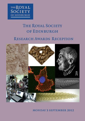 RSE Research Awards Reception - The Royal Society of Edinburgh