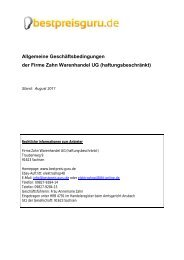 Allgemeine Geschäftsbedingungen der Firme Zahn Warenhandel ...