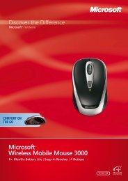Microsoft Wireless Mobile Mouse 3000 6+ Months Battery Life - Arp