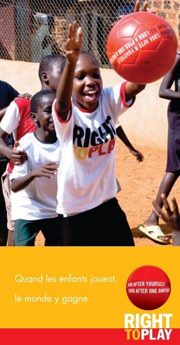Quand les enfants jouent, le monde y gagne - Rp-press.com