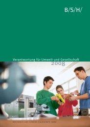 Nachhaltigkeitsbericht - BSH Bosch und Siemens Hausgeräte GmbH