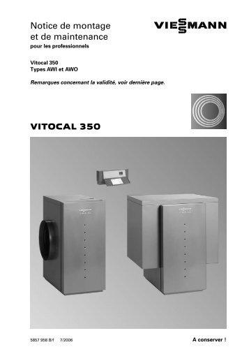 VITOCAL 350 Notice de montage et de maintenance
