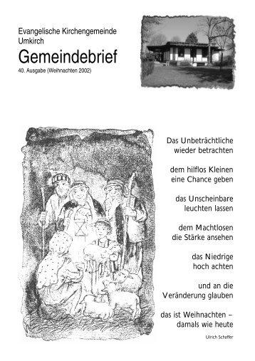 April 2003 - Evangelische Kirchengemeinde Umkirch