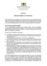 Werdende Mütter an Tankstellen - Die Regierungspräsidien in ...