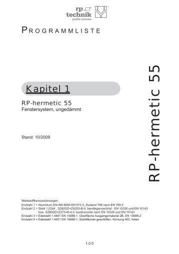 Dokumentation Programmliste - RP Technik
