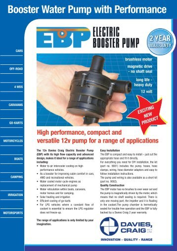 Booster Water Pump with Performance