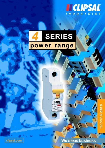 4 Series Power Range Technical Data, 892-718