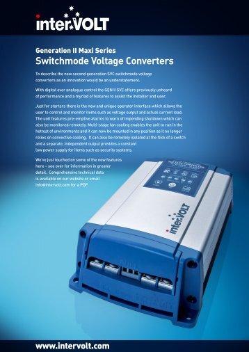 InterVOLT Maxi2 Switchmode Converter Brochure