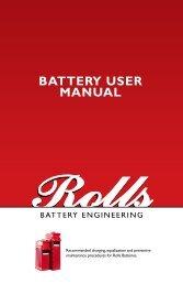BATTERY USER MANUAL - Rolls Battery