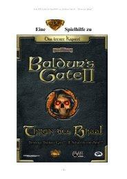 Baldurs Gate 2 - Thron des Bhaal Guide als PDF - RPGuides