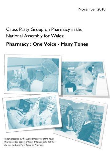 Pharmacy : One Voice - Many Tones - Royal Pharmaceutical Society