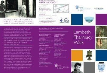 Lambeth Pharmacy Walk - Royal Pharmaceutical Society