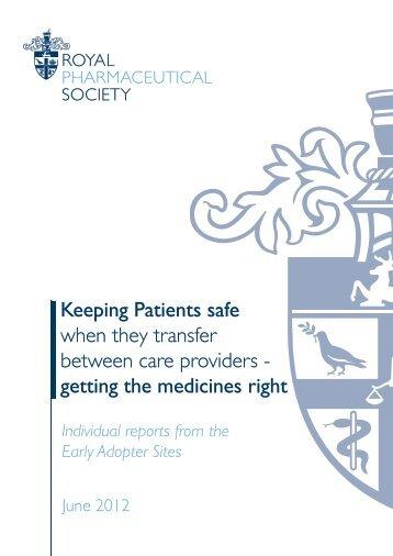 work - Royal Pharmaceutical Society
