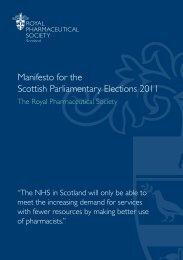Manifesto - Royal Pharmaceutical Society