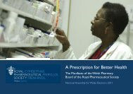 A Prescription for Better Health - Royal Pharmaceutical Society
