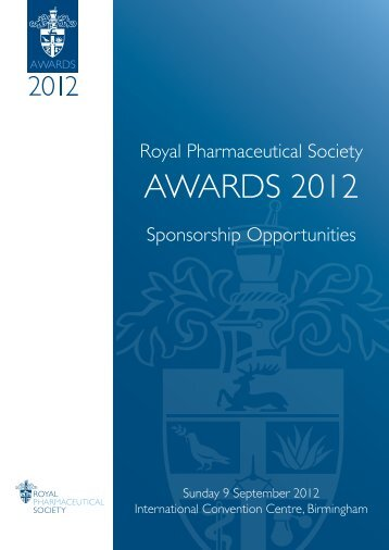 AWARDS 2012 - Royal Pharmaceutical Society