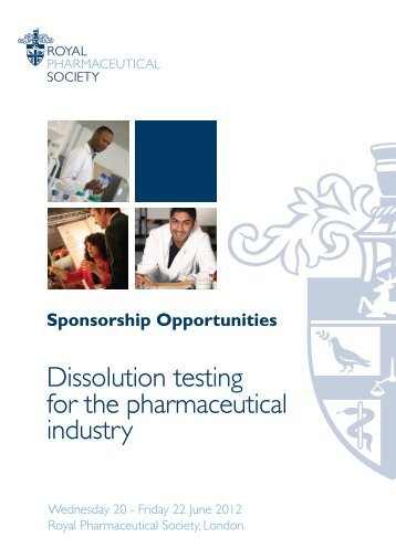 Dissolution testing for the pharmaceutical industry - Royal ...