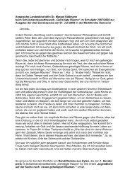 Ansprache Landesbischöfin Dr. Margot Käßmann