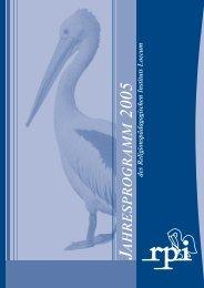 RPI-Jahresprogramm 2005 - Religionspädagogisches Institut Loccum