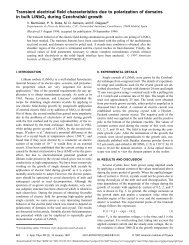 Transient electrical field characteristics due to polarization of ...