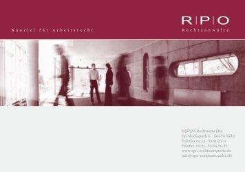 Kanzleibroschüre [PDF] - RPO Rechtsanwälte