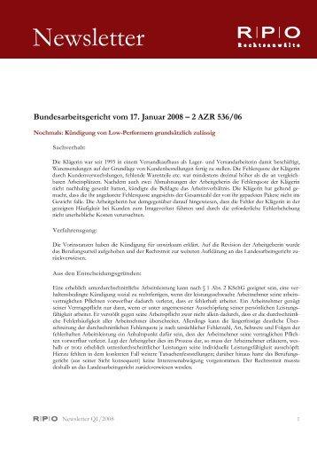 Newsletter - RPO Rechtsanwälte
