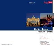 Poznan – Berlin Berlin – Posen - Berlin Partner GmbH