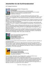 Arbeitshilfen für die Konfirmandenarbeit - RPZ Heilsbronn