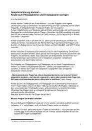 Kinder zum Philosophieren und Theologisieren ... - RPZ Heilsbronn