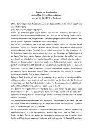 Predigt zur Konfirmation am 28. März 2010 in ... - RPZ Heilsbronn
