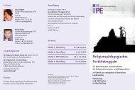 Flyer zum Religionspädagogischen ... - RPZ Heilsbronn