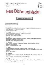 Luth. Kirche in Bayern - Bibliothek - RPZ Heilsbronn