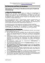 Informationen zum Antrag auf Stundenanrechnung - RPZ Heilsbronn