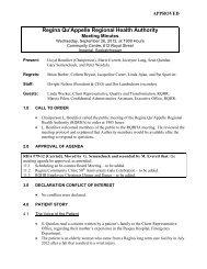 September 26, 2012 - Regina Qu'Appelle Health Region