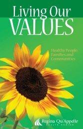 values - Regina Qu'Appelle Health Region