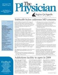 The Physician - Regina Qu'Appelle Health Region