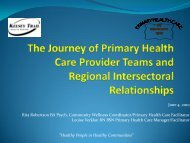 The Journey of Primary Health Care Provider and Regional ...